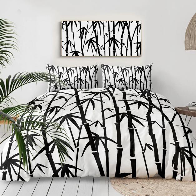Bamboo Leaf Printed 3-Piece Bed Set Best Children's Lighting & Home Decor Online Store