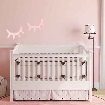Wooden 3D Eyelash Wall Sticker Children's Room Decor Best Children's Lighting & Home Decor Online Store