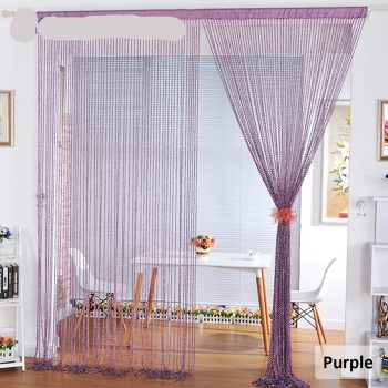 New Style Spiral Solid Color String Curtain Door Curtain Hanger Room Divider With Tinsel Tassel  W100L200 Home Decoration Best Children's Lighting & Home Decor Online Store