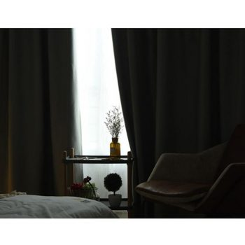 Heavy Weight Blackout Windows Curtain Grey Double Layer Spun Best Children's Lighting & Home Decor Online Store