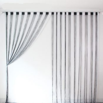 High Density Black and White Mix String Curtain Best Children's Lighting & Home Decor Online Store