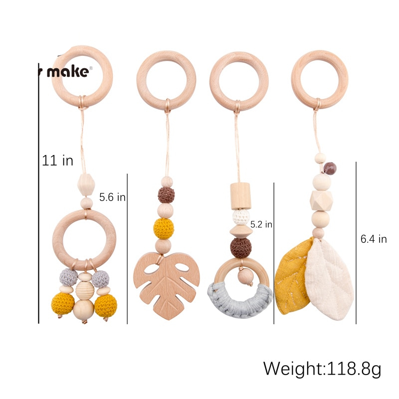 Nordic Style Baby Gym Play Wood Baby Toys Nursery Sensory BPA Free Organic Material Wooden Frame Infant Room Toy Baby Rattles Best Children's Lighting & Home Decor Online Store