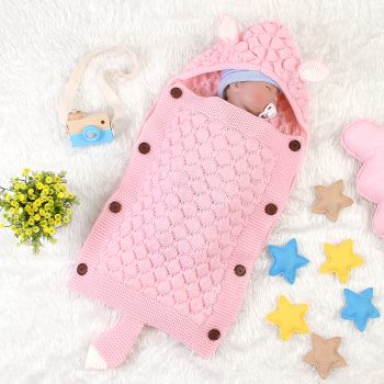 Hand Knitted Baby Sleeping Bags For Newborn Kids