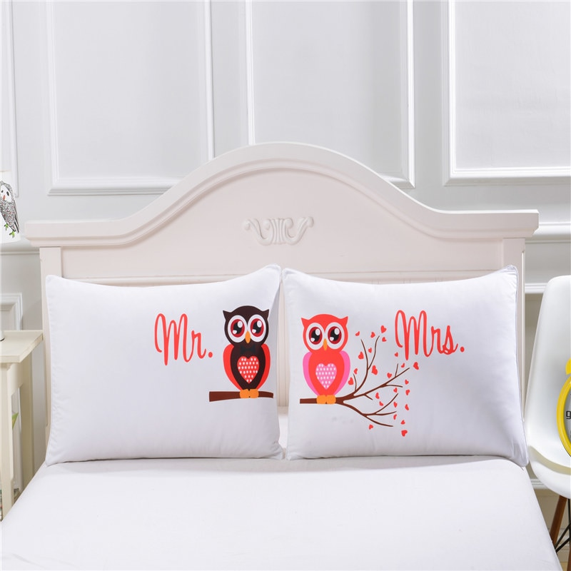 Pillowcase Mr And Mrs Pillow Cases