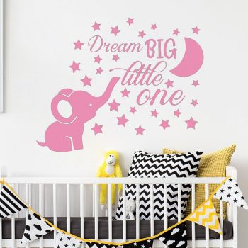 Elephant Nursery Wall Decal Baby Boy Room - Quote Wall Vinyl Stickers Best Children's Lighting & Home Decor Online Store