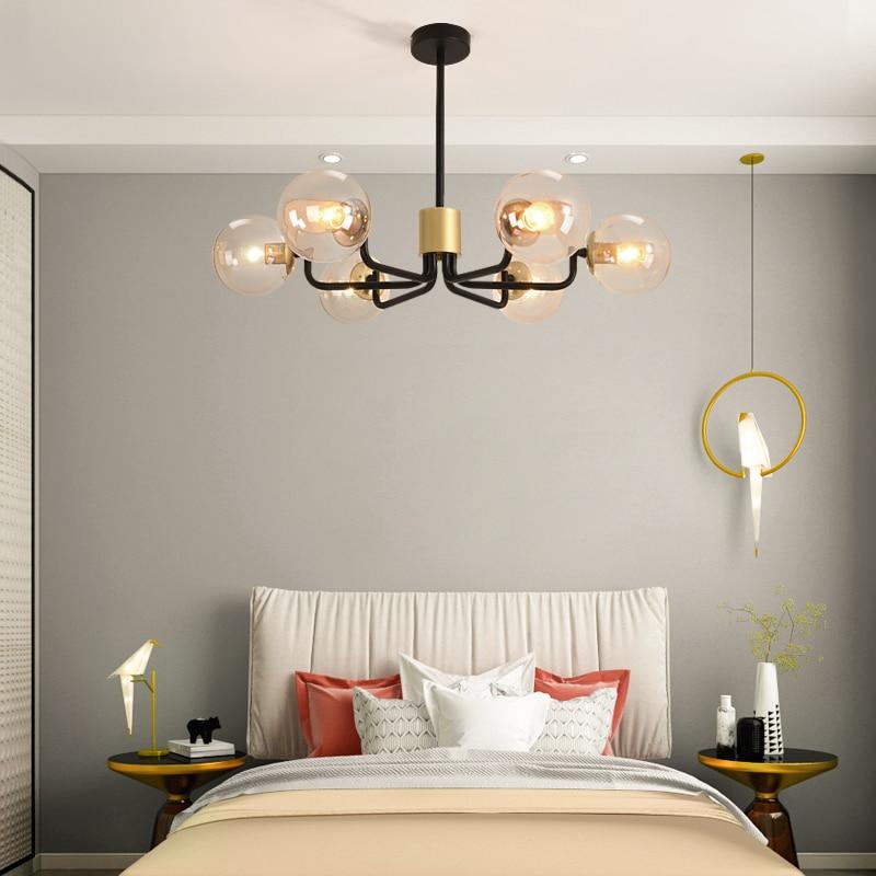 Ultra modern Chandelier Lighting 4 Color Lights LED Edison 6 Lights Chandeliers Indoor Light Fixtures