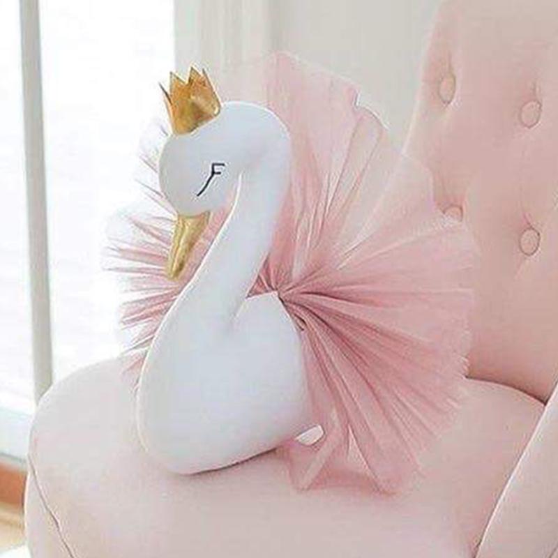 3D Wall Decor Wall Mount Cute Stuffed Swan  For Kids Room Best Children's Lighting & Home Decor Online Store