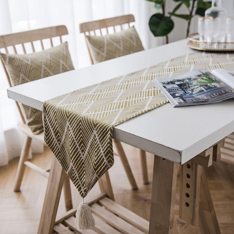 Modern Geometric Table Runner