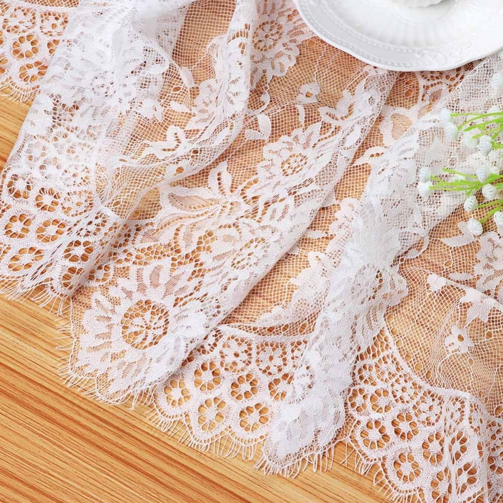 White Floral Lace Table Runner Best Children's Lighting & Home Decor Online Store