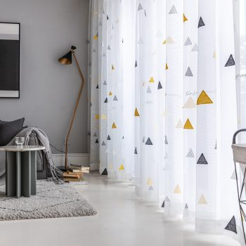 Sheer Tulle For Living Room Modern Home Decorative Curtains Study Kids Room