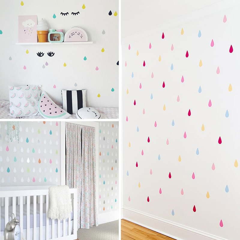 Small Raindrop Wall Sticker For Kids Room Best Children's Lighting & Home Decor Online Store