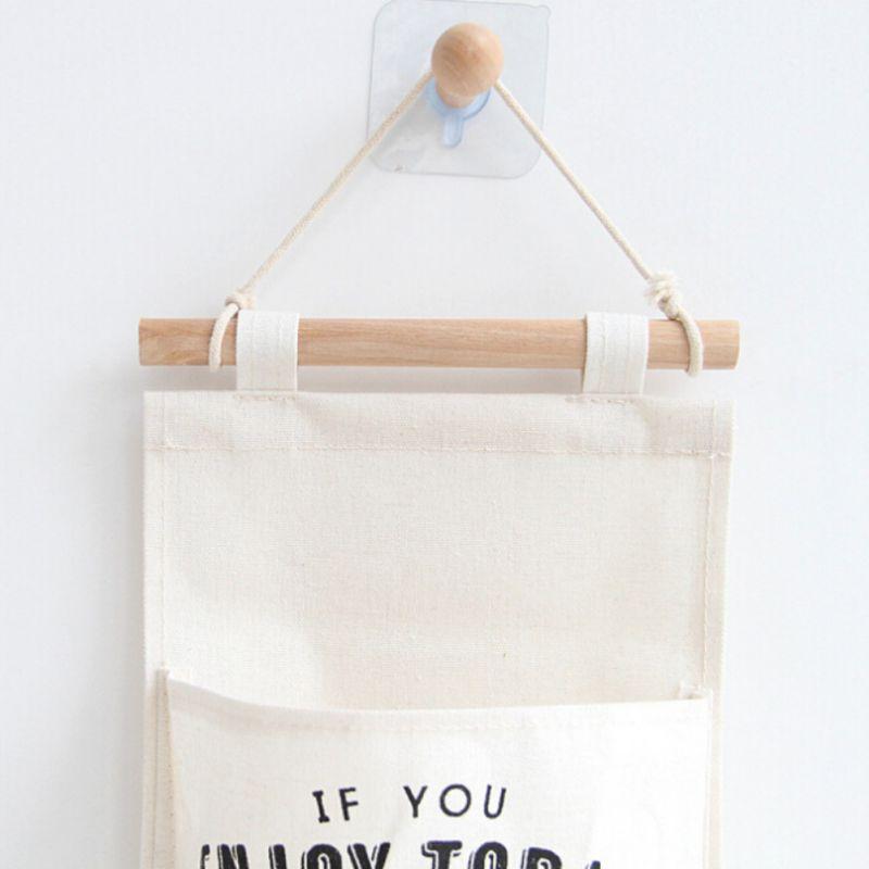Hanging Storage Bag 3 Pockets Door Bedroom Storage Closet Organizer