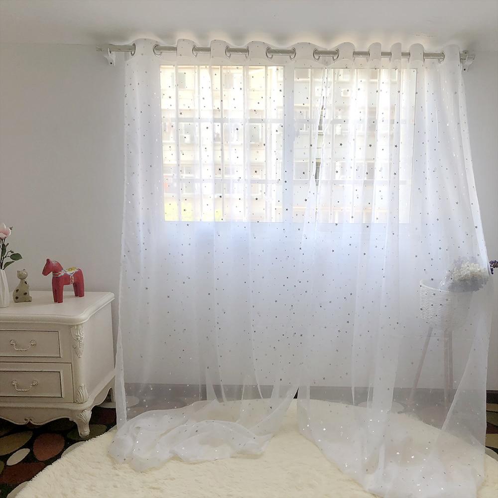 White Star Sheer Curtains For The Living Room Best Children's Lighting & Home Decor Online Store