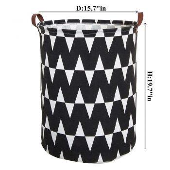 Large Folding Laundry Basket Storage Box Barrel For Storing Toys &Amp; Laundry