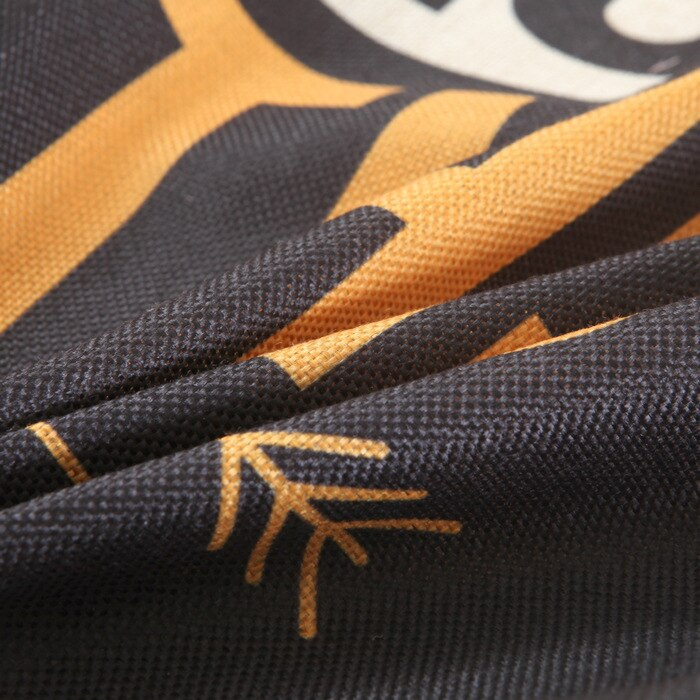 Yellow Black Cotton Linen Cushion Cover - Home Decor