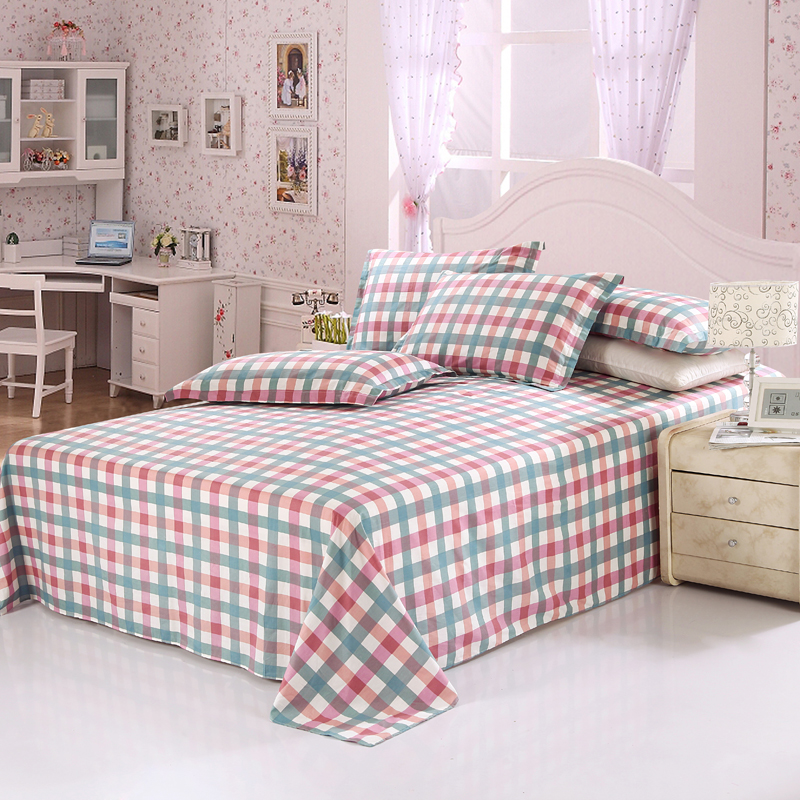 Cotton Stripe Bed Sheets - 3 Pieces (1 bedsheet + 2 pillowcases) Best Children's Lighting & Home Decor Online Store