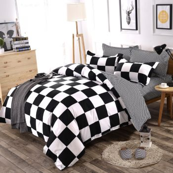 3/4pcs/Set Simple Style Stripe Fashion Comforter Cotton Bedding Set Best Children's Lighting & Home Decor Online Store