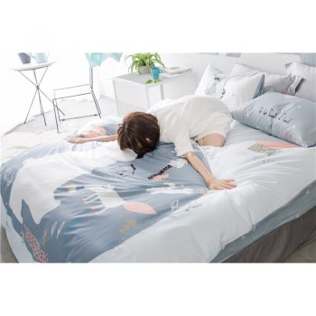 Cotton Bear &Amp; Fox Kids Gray Bedding Set