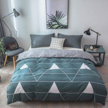 Dark Gray Cotton Plaid Duvet Cover with Zipper Best Children's Lighting & Home Decor Online Store