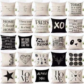 letter cushion covers