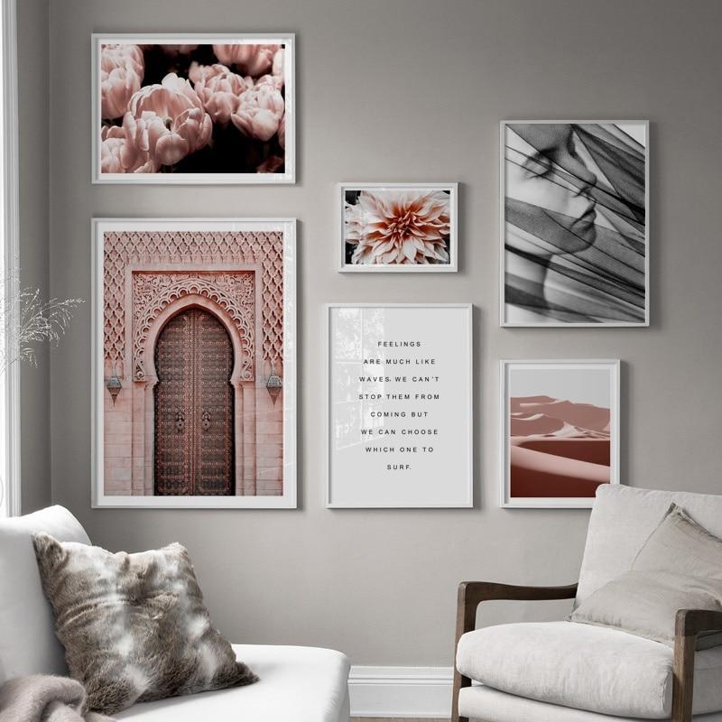 Flower Desert Living Room Decor