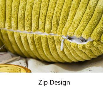 Striped Velvet Soft Cushion Cover (45cm & 50cm) Best Children's Lighting & Home Decor Online Store
