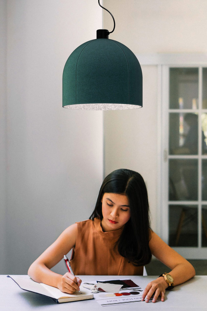 Luxxbox Designs Robust Helm Hush Acoustic Pendant Lighting Best Children's Lighting & Home Decor Online Store