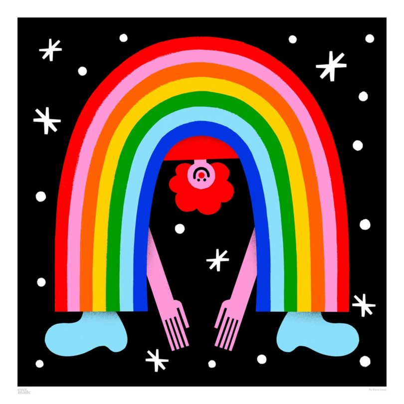 Evermade Rainbow Art Prints to Support Frontline Workers of the NHS Best Children's Lighting & Home Decor Online Store