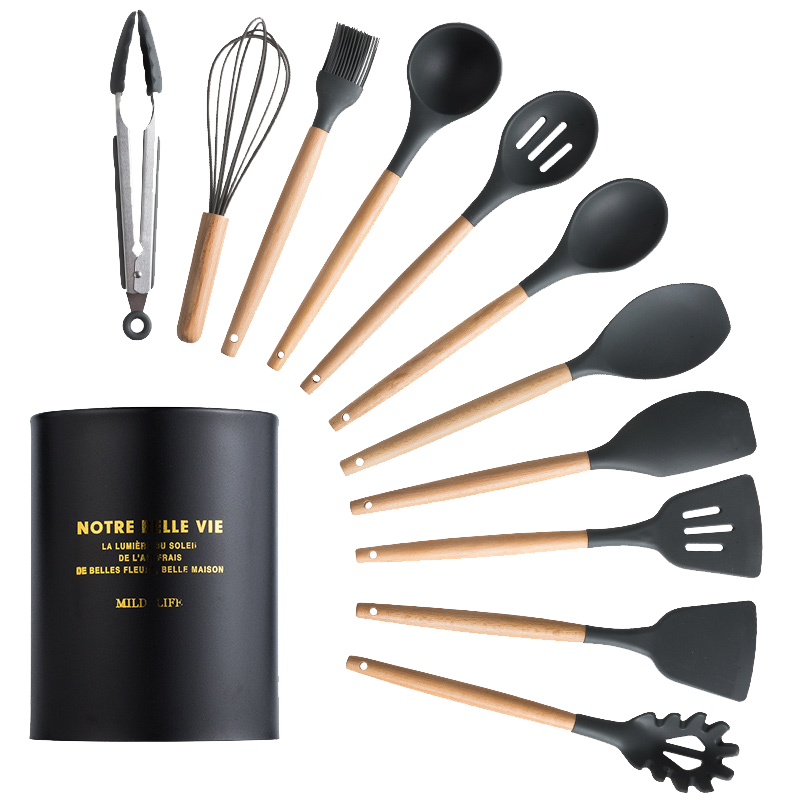12/13 Silicone Cooking Utensils Sets With Stainless Steel Storage Box Best Children's Lighting & Home Decor Online Store