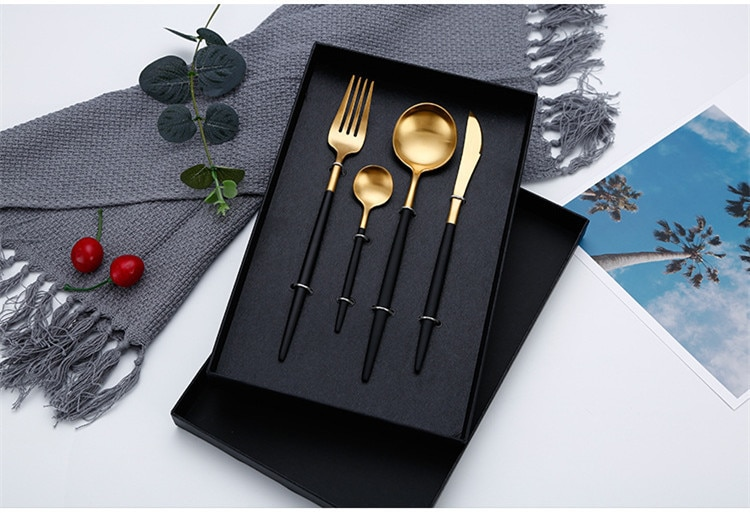 Cutlery Set - Knives Forks Spoons Stainless Steel Home Party Tableware Set Best Children's Lighting & Home Decor Online Store