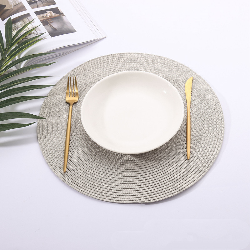 1pc Round Braided Style Placemat Best Children's Lighting & Home Decor Online Store