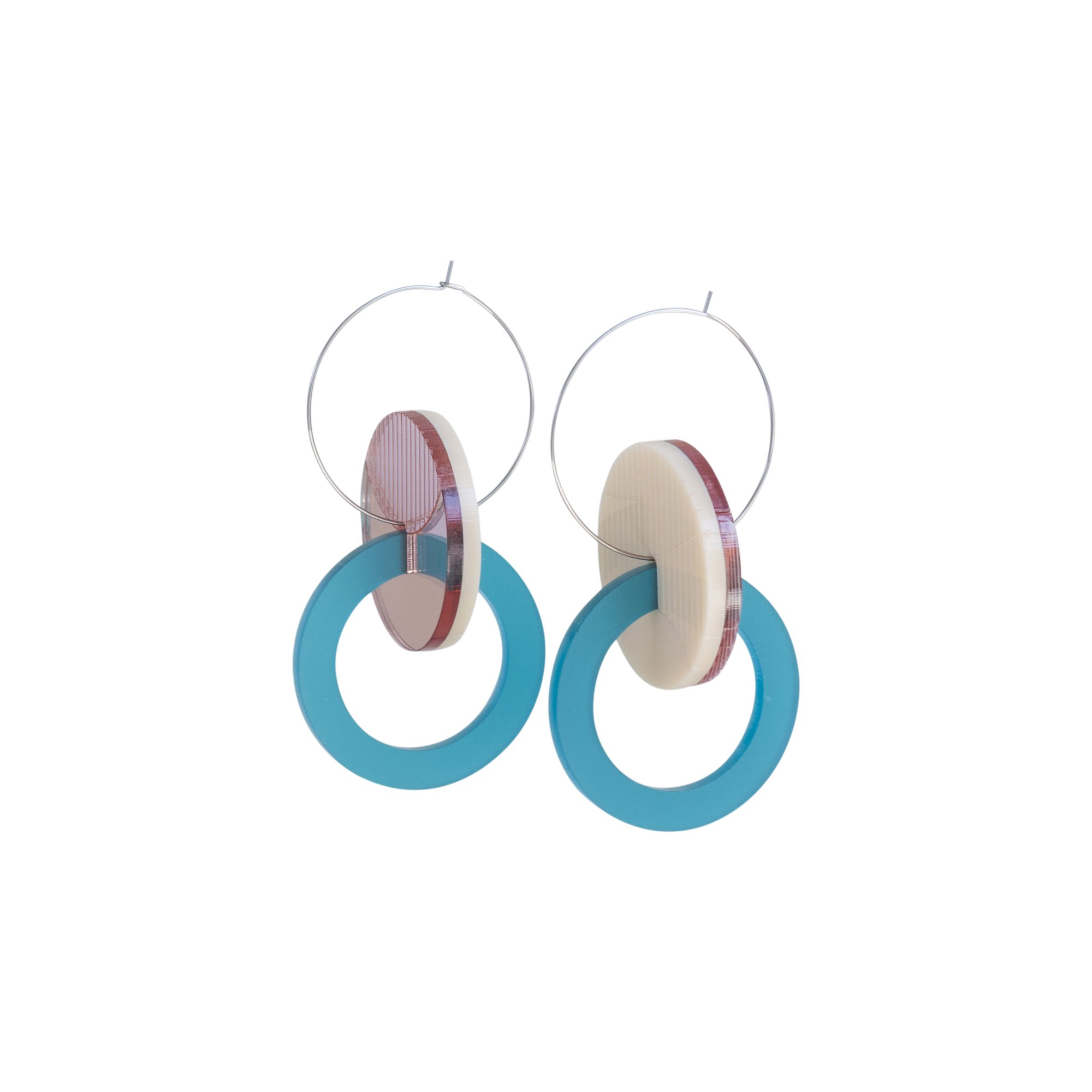 Double Circle Reversible Earrings