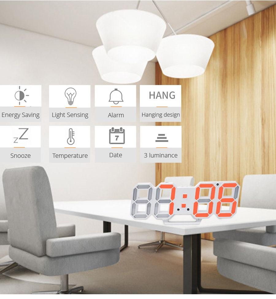 3D Led Wall Clock