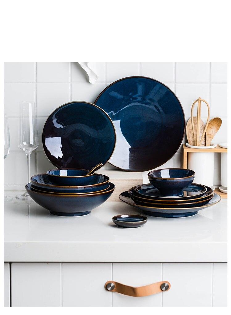 Dark Blue Luxury Plates