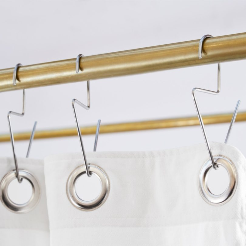 Venice Stainless Steel Shower Curtain Hook bath accessories