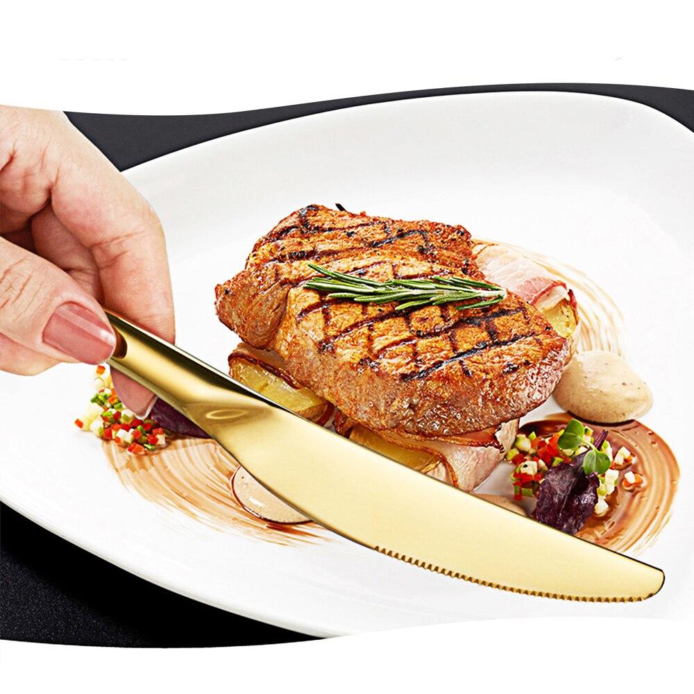 24Pcs Gold Cutlery Set