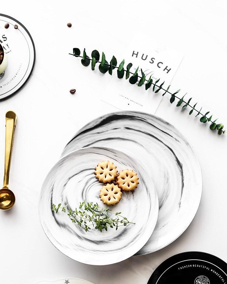 Luxury Marble Plates - Dinner Plate/Cake Dishes/Fruit/Dessert/Salad Plate