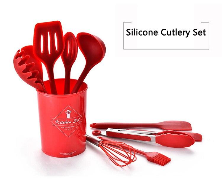 10/11Pcs Silicone/Non-Stick Spatula Set