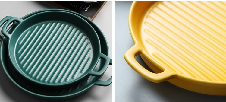 Ceramic Baking Dish/Microwave Oven Flat Plate