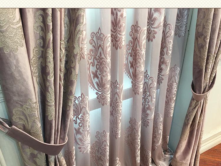 High-End Velvet Gilded Curtains For Living/Dining Room Bedroom