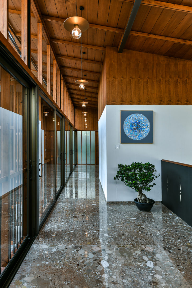 Skew House Is Built On An Angle To Honor Its Praying Room