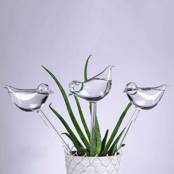 Bird-shaped Self-watering glass globes