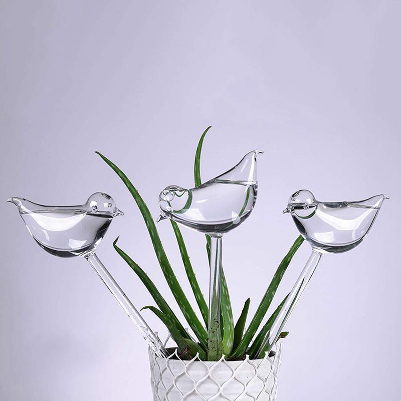 Bird-shaped Self-watering glass globes