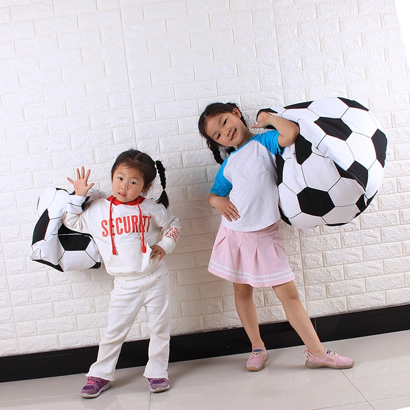 Football Shaped Bean Bag &Amp; Toy Storage For Stuffed Animals