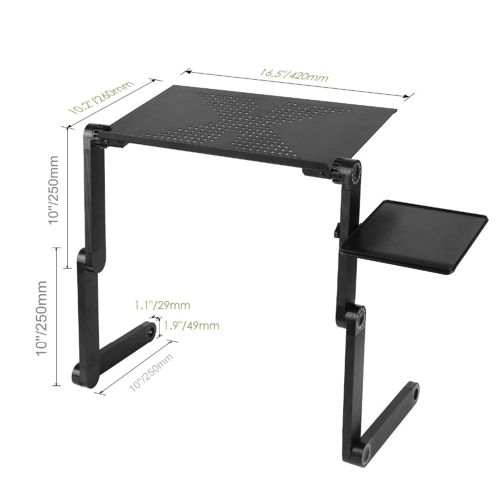 Adjustable Aluminum Laptop Table Stand With Mouse Pad Best Children's Lighting & Home Decor Online Store