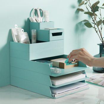 Desktop File Folder Stationery Tray With Pen Holder Best Children's Lighting & Home Decor Online Store