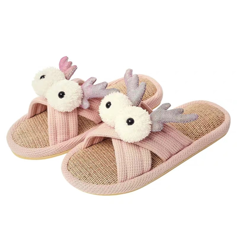 Soft Bedroom Slippers For Ladies With Big Goggly Eyes