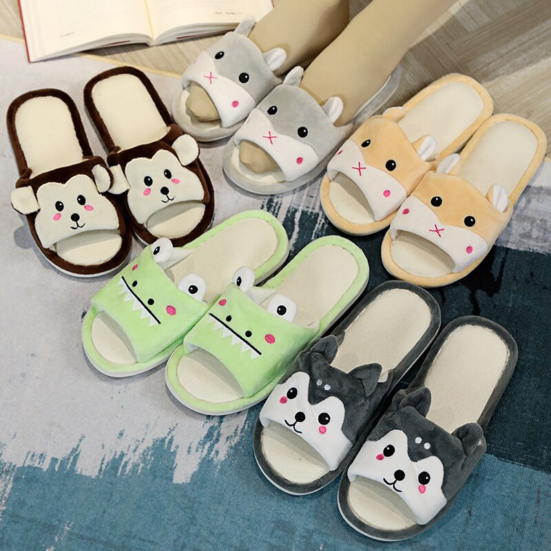 Casual bedroom Slippers For Women - With Cute Animal Faces Best Children's Lighting & Home Decor Online Store