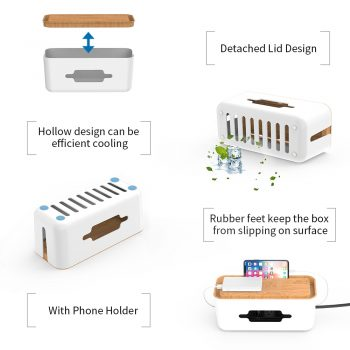 Cable Organizer Box with Holder Best Children's Lighting & Home Decor Online Store