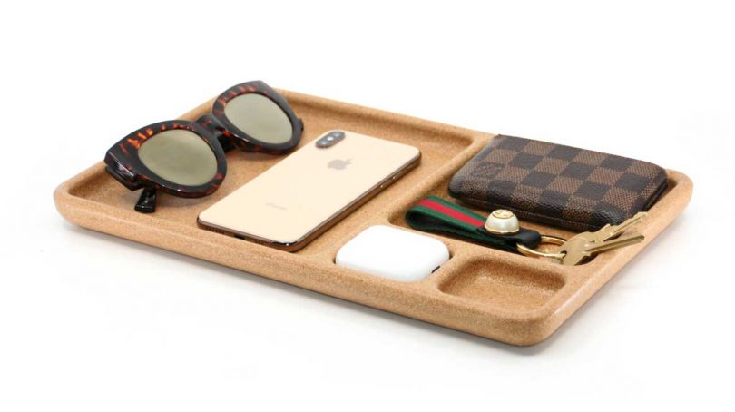 A Cork Tray To Keep Your Desk, Bedside, And Entryway Organized